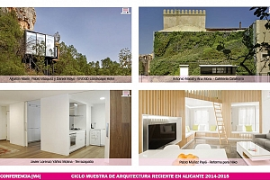 Conferencias Muestra de Arquitectura Reciente en Alicante 2014-2015