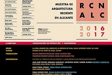 Muestra de Arquitectura Reciente en Alicante. Elda. Inauguración de exposición y conferencias