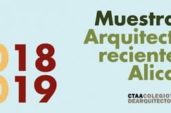 Convocatoria Muestra de Arquitectura Reciente en Alicante 2018-2019.