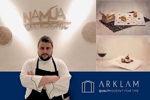 El stand de Arklam en Espacio Cocina acoge un showcooking a cargo del chef Víctor Soriano