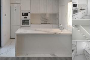 Mármoles blancos, un material clásico reconvertido en tendencia total en la decoración de interiores