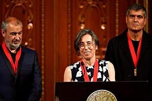 Los arquitectos catalanes RCR reciben el premio Pritzker en Tokio ante el emperador Akihito