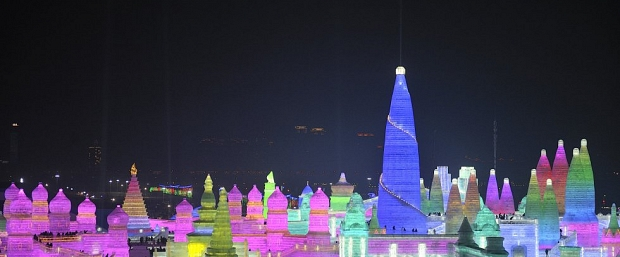 Luz y hielo en el Festival Harbin