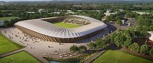 'Eco Park', el estadio de fútbol de madera del único equipo vegano del mundo