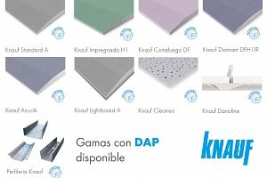 Knauf obtiene las DAP para nueve gamas de sus productos