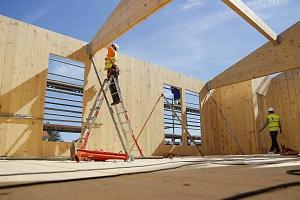 Llegan a España los bloques de pisos de protección oficial de madera