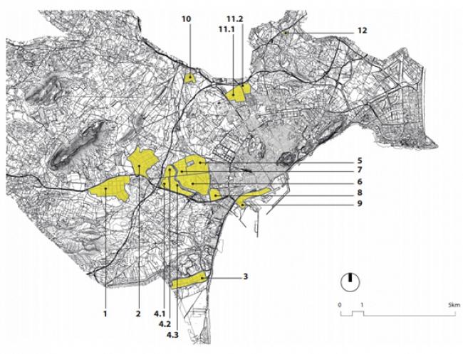 Áreas industriales identificadas en el estudio