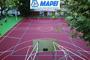 Renovación de pavimentos deportivos en la Escuela Inmaculada Concepción de Barcelona