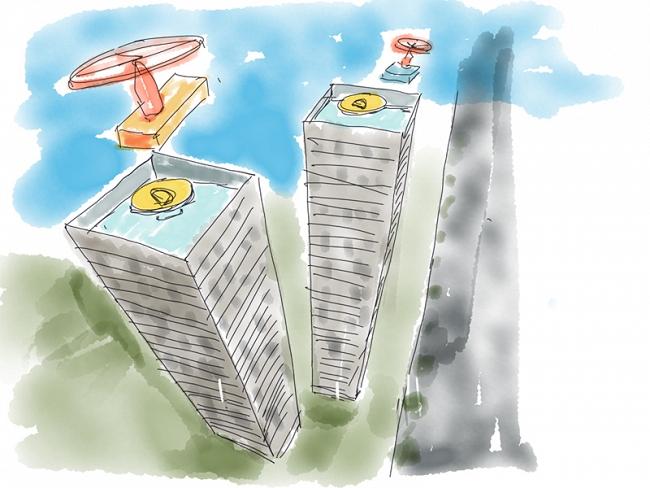 Droneboxes. Dibujo de  Miguel Peiró