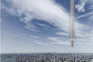 Arquitectos de Nueva York proponen rascacielos sostenidos por asteroides colgando sobre la ciudad