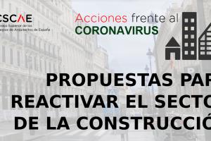 Los arquitectos proponen una recuperación económica que se apoye en la edificación para promover el acceso a la vivienda asequible y la renovación urbana