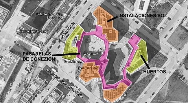 """WagnisArt Fotomontaje. Fuente: Google maps. """"Conexión"""""""