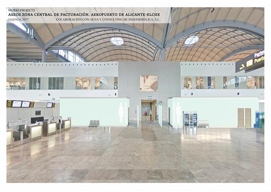 NUEVOS ASEOS EN P20 FACTURACIÓN AEROPUERTO ALICANTE-ELCHE. . Alicante . Alacant . España