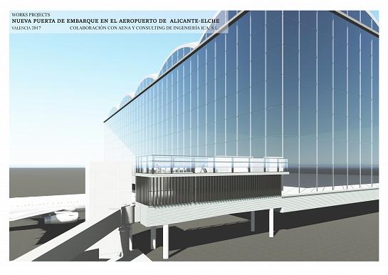 NUEVA PUERTA DE EMBARQUE EN EL AEROPUERTO ALICANTE-ELCHE . Alicante . Alacant . España