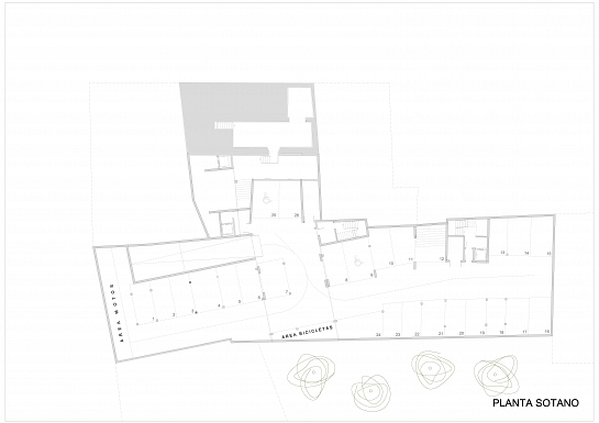 Construcción de 16 viviendas públicas para la rehabilitación de la casa Pérez Piñero y regeneración del casco antiguo de Calasparra . Calasparra . Murcia . España