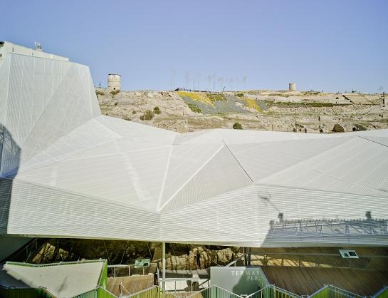 Cubierta para el Parque Arqueológico del Molinete . Cartagena . Murcia . España