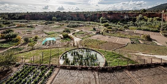 Recuperación del sistema de riego en las huertas termales de Caldes de Montbui . Barcelona . Barcelona . España