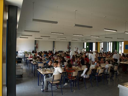 Comedor en el CEIP 'Plá de Barraques' . Campello . Alacant . España