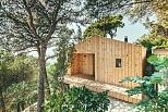 Casa estudio de madera