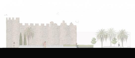 Intervención en el entorno de la Muralla Almohade . Palma del Río . Córdoba . España