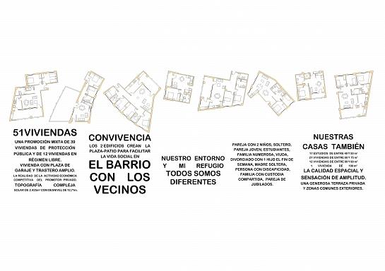 Conjunto de 51 viviendas . Alcoy . Alacant . España