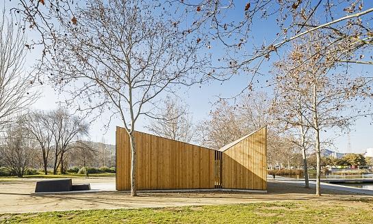 Aula K. Espacio modular para educación ambiental . Santa Coloma de Gramenet . Barcelona . España