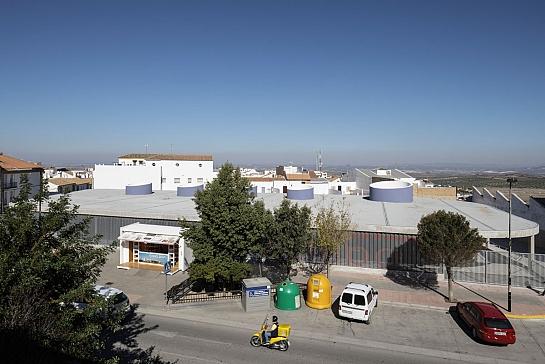 Estación de Autobuses en Estepa . Estepa . Sevilla . España