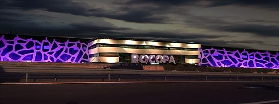 Diseño de fachada de las Bodegas Bocopa . Petrer . Alacant . España