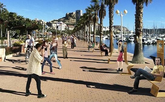 Concurso Paseo La Luz de las Estrellas. Mención Especial . Alicante . Alacant . España