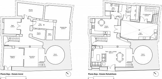 Rehabilitación de vivienda en casco histórico . Villena . Alacant . España