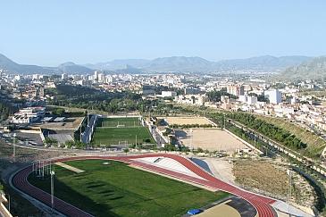 Pista de Atletismo 3D . Elda . Alacant . España