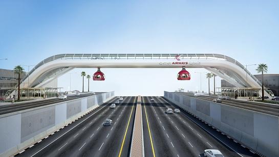 Pasarela peatonal . Doha . Doha . Qatar