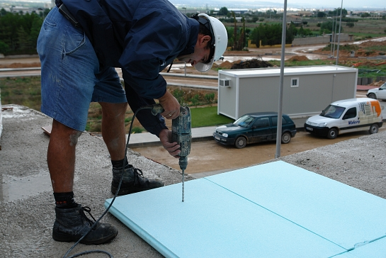 Aislamiento térmico e hidrofobo cubiertas planas