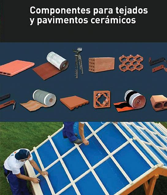 Componentes para tejados y pavimentos cerámicos