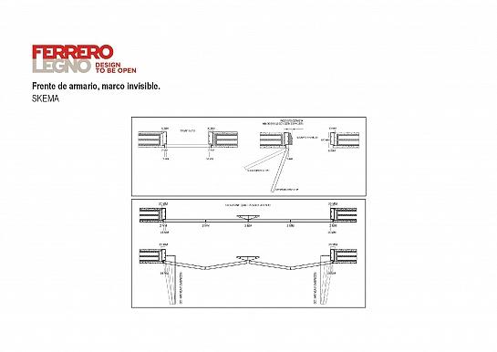 FerreroLegno - Frente armario marco invisible.
