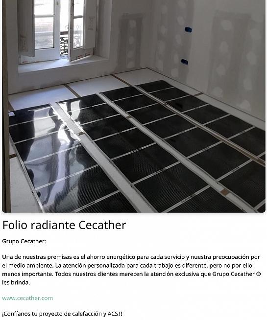 Folio radiante Cecather / Suelo Radiante Cecather