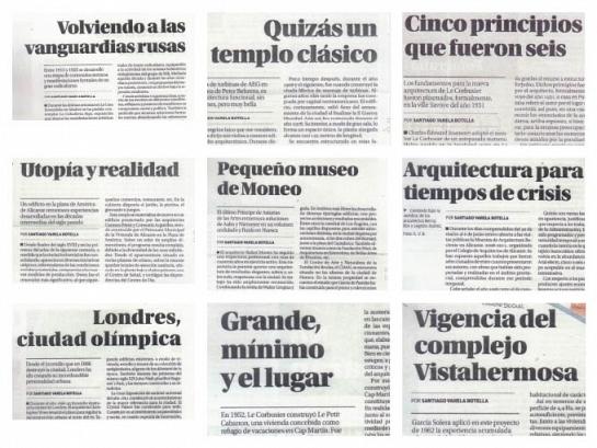Artículos Arte y Letras, Diario Información