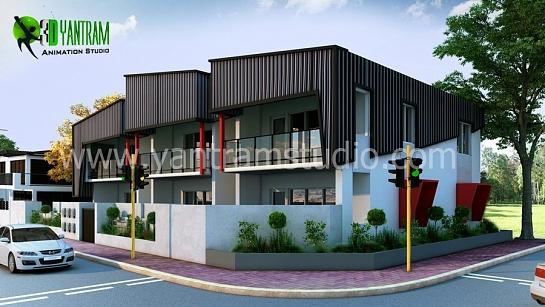 Residencial exterior arquitectónico diseño de la casa