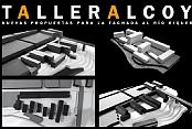 Taller Alcoy. Nuevas propuestas para la fachadas al río riquer
